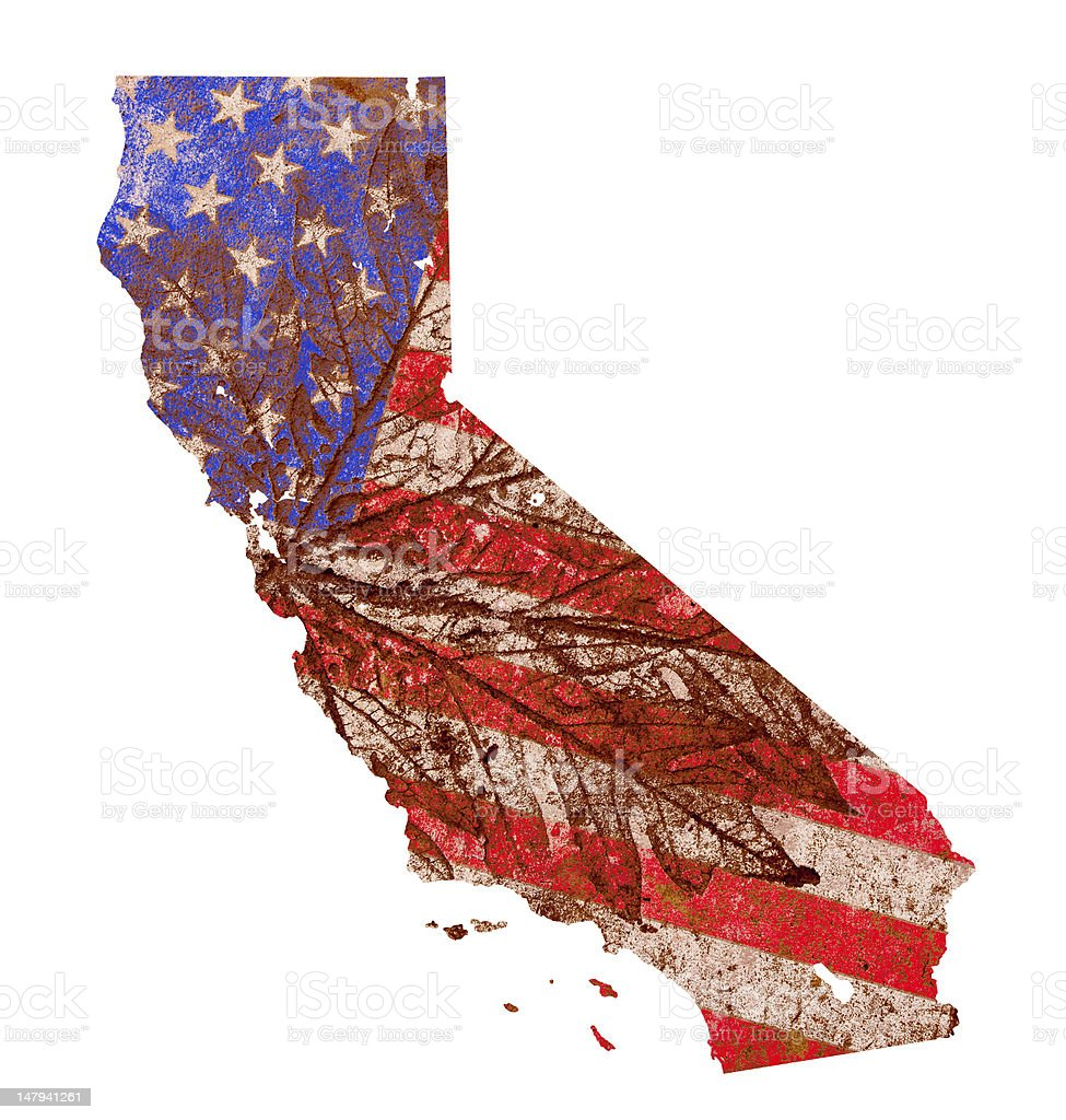 California State Map Flag Pattern royalty-free stock photo
