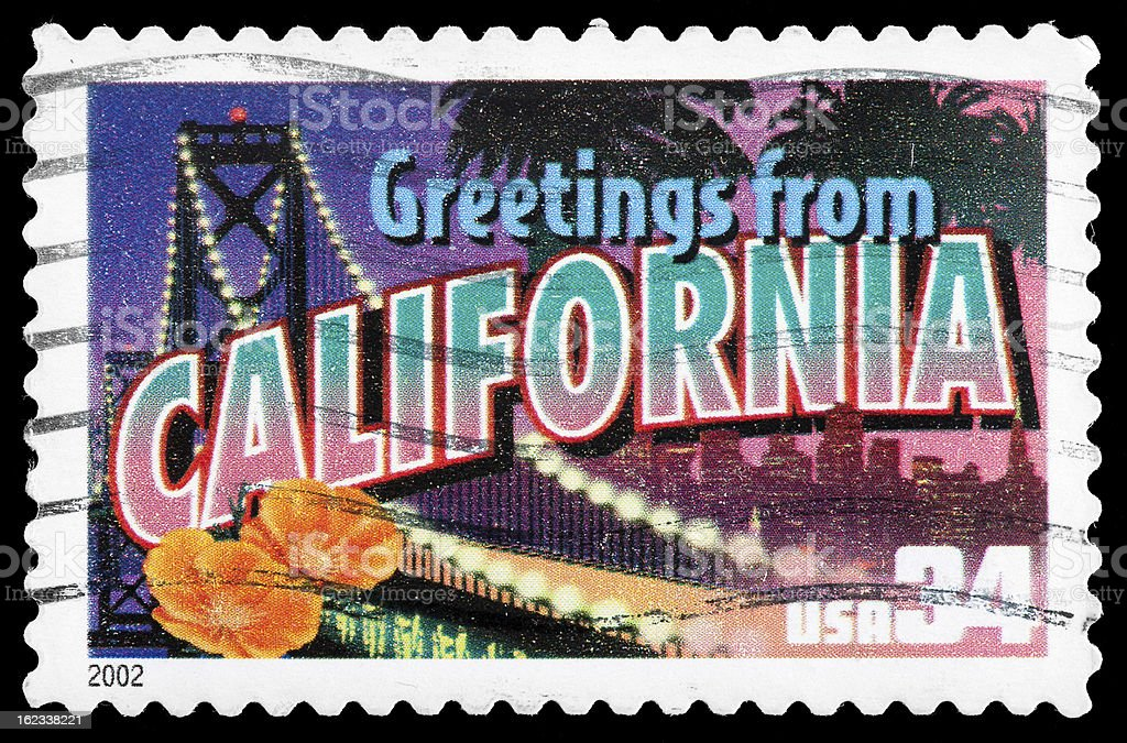 California state postage stamp greetings from america retro postcard california state postage stamp greetings from america retro postcard theme royalty free stock m4hsunfo