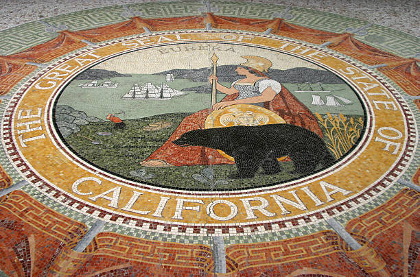 California State Seal Mozaic  federal building stock pictures, royalty-free photos & images