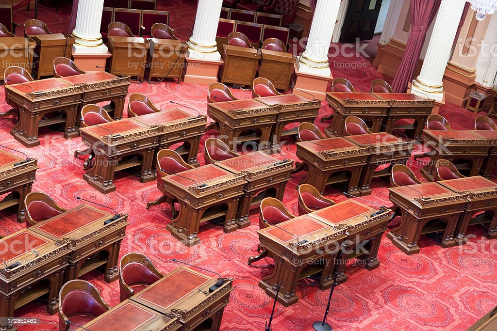 California State Senate Room stock photo