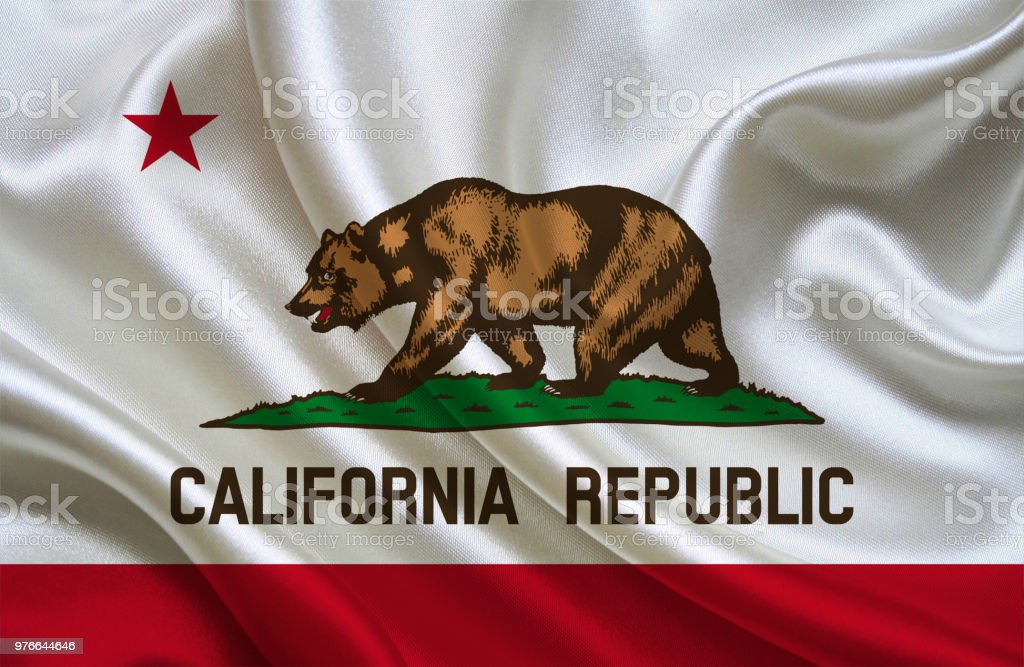 Bandera que agita de estado de California - foto de stock