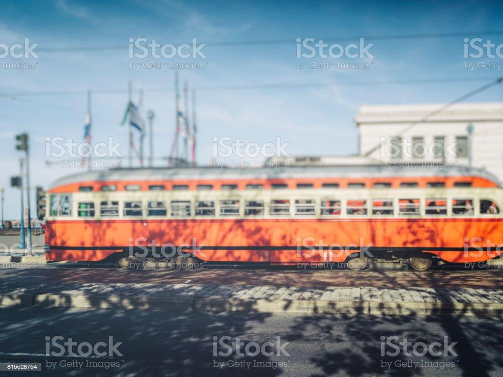 california street cable car stock photo