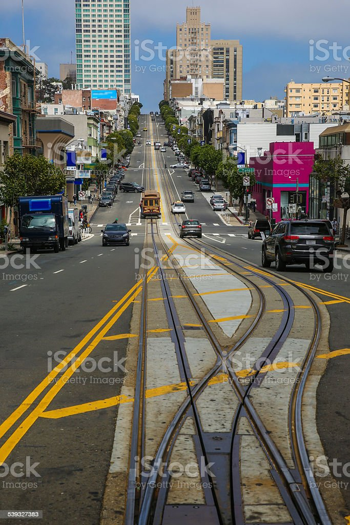 California Street in San Francisco stock photo