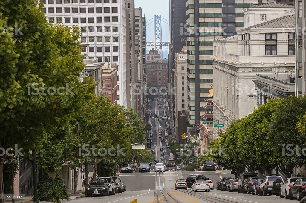 California Street, San Francisco, CA stock photo