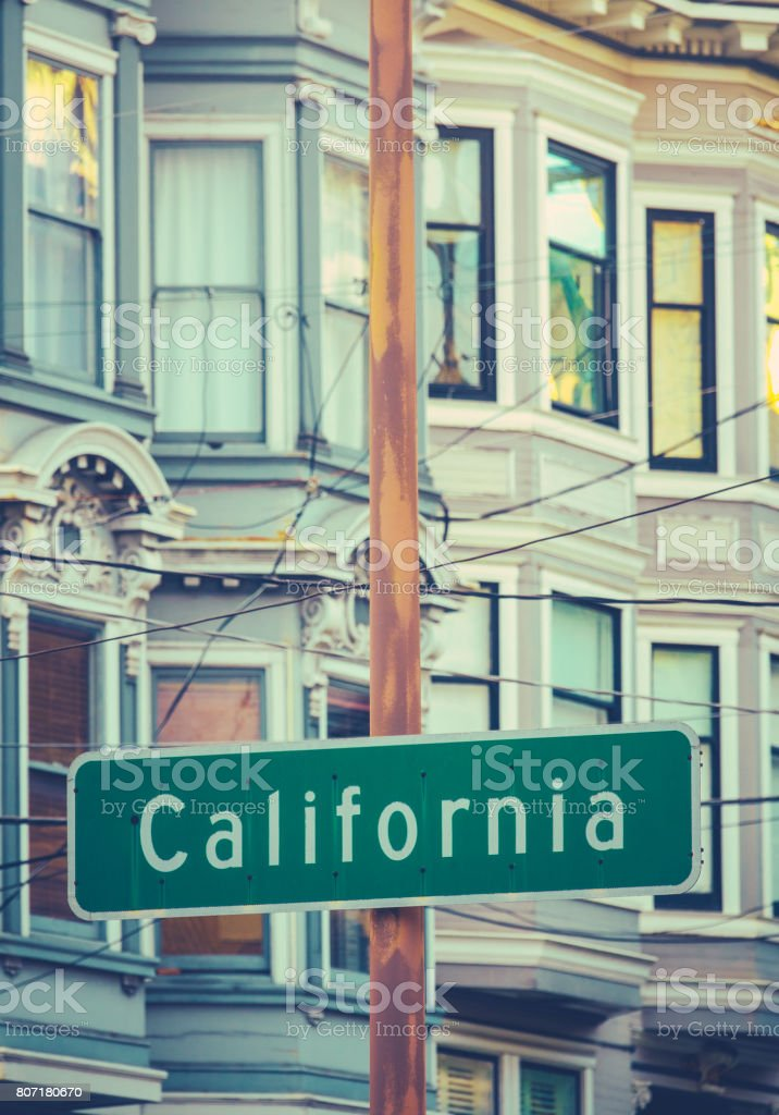 California Street Sign stock photo