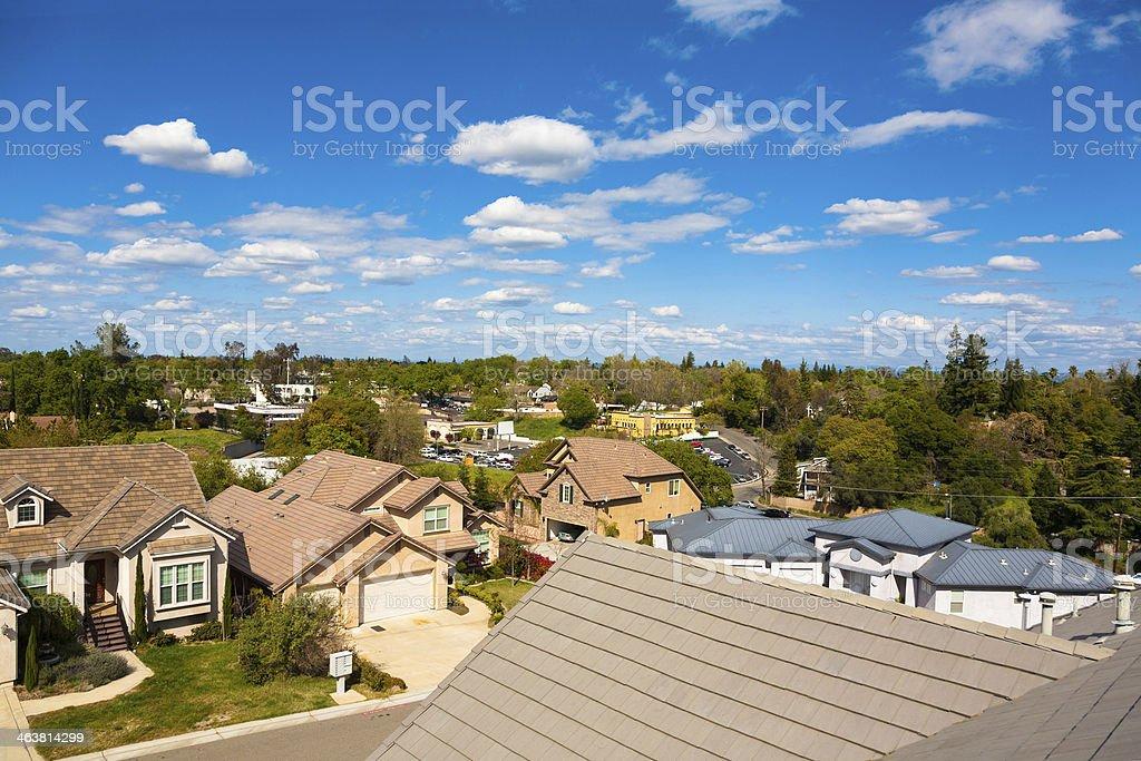 California Suburb stock photo