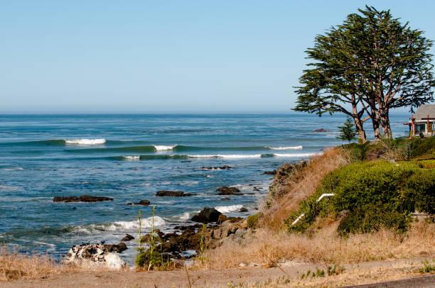 california surf check - central coast california stock photos and pictures