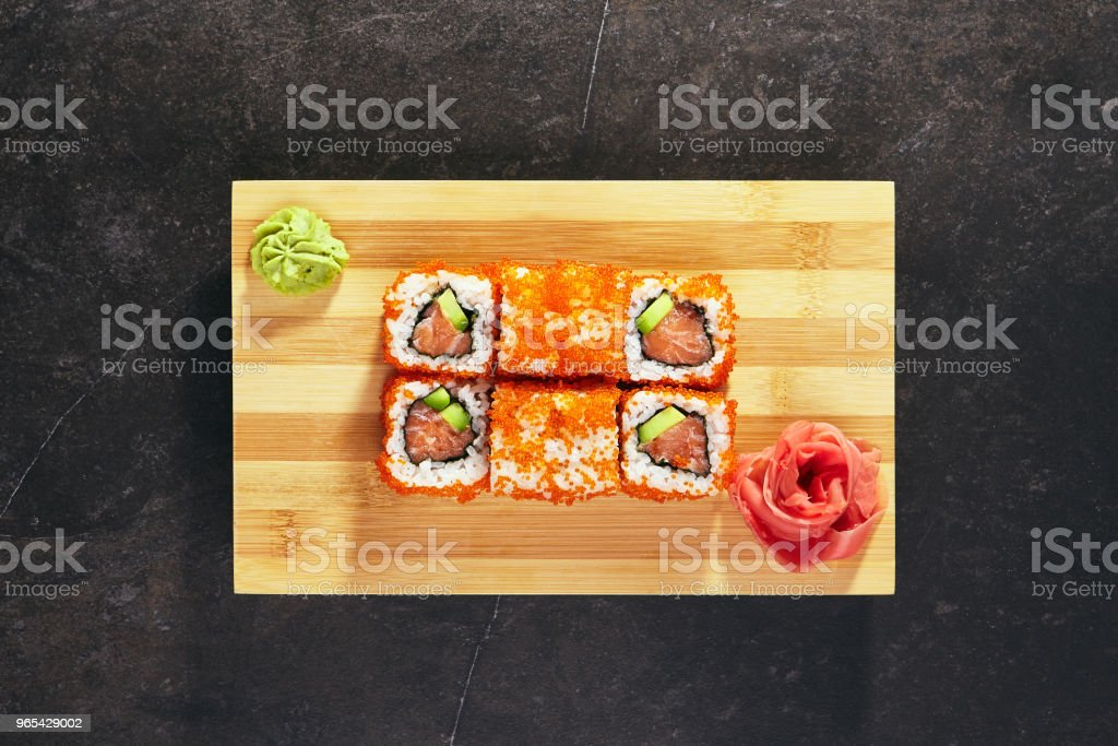 California Sushi Roll royalty-free stock photo