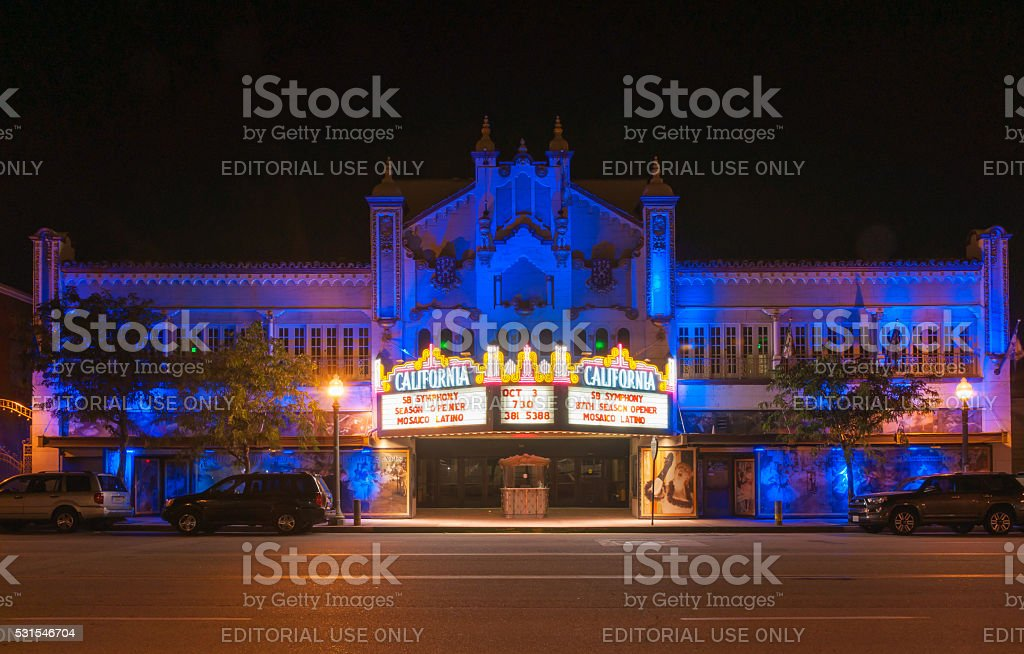 California Theatre of the Performing Arts stock photo