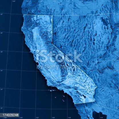 istock California Topographic Map 174025248