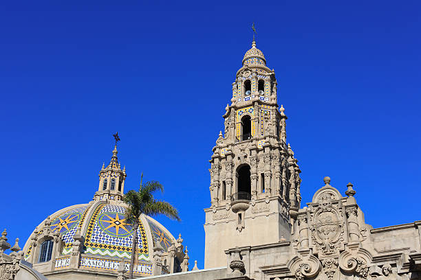 California Tower, Balboa Park, San Diego  bell tower tower stock pictures, royalty-free photos & images
