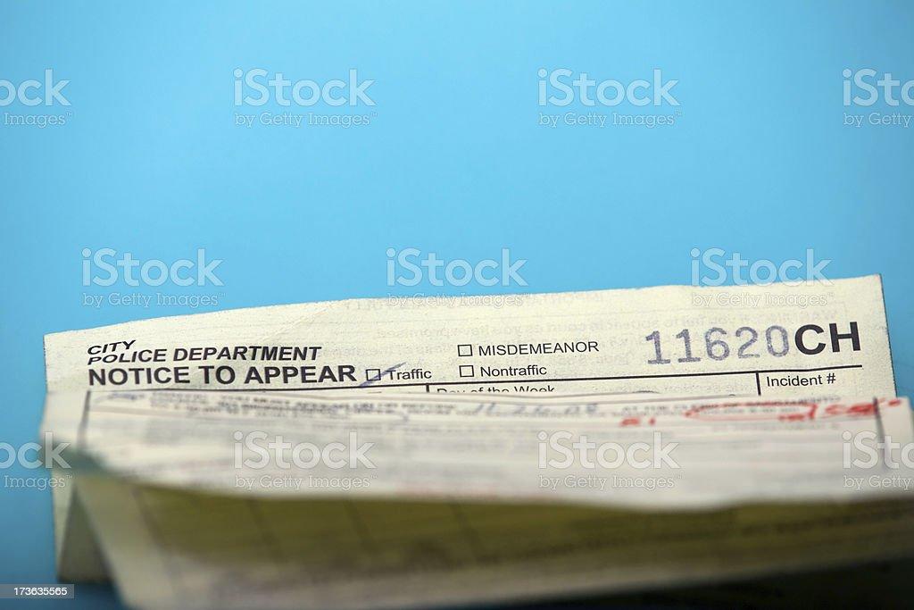 California Traffic Ticket stock photo