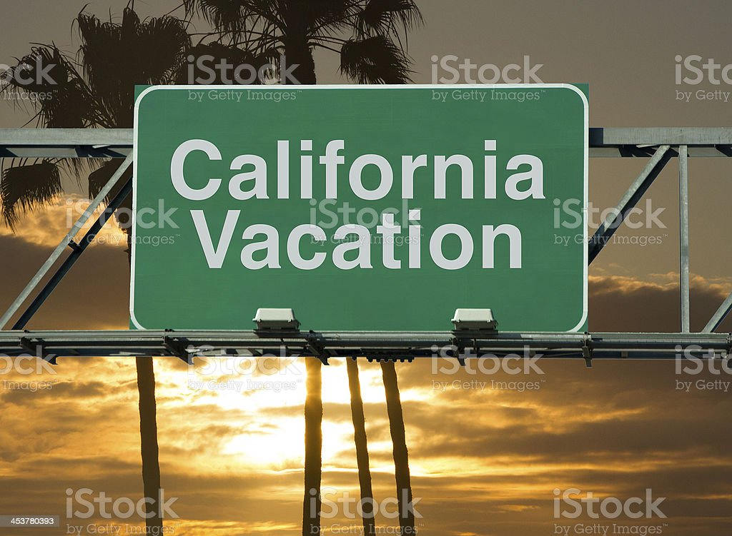 California Trip stock photo