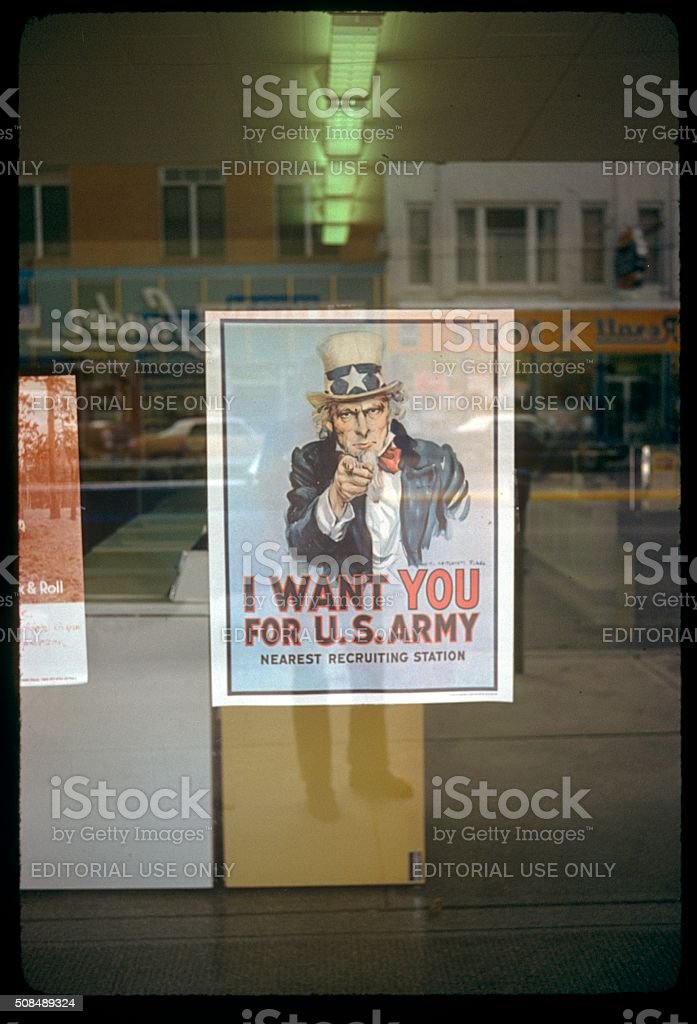 California, U.S. Army, uncle sam poster stock photo