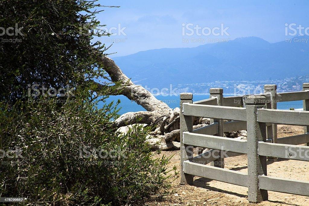 California:  View across the bay from Santa Monica. royalty-free stock photo