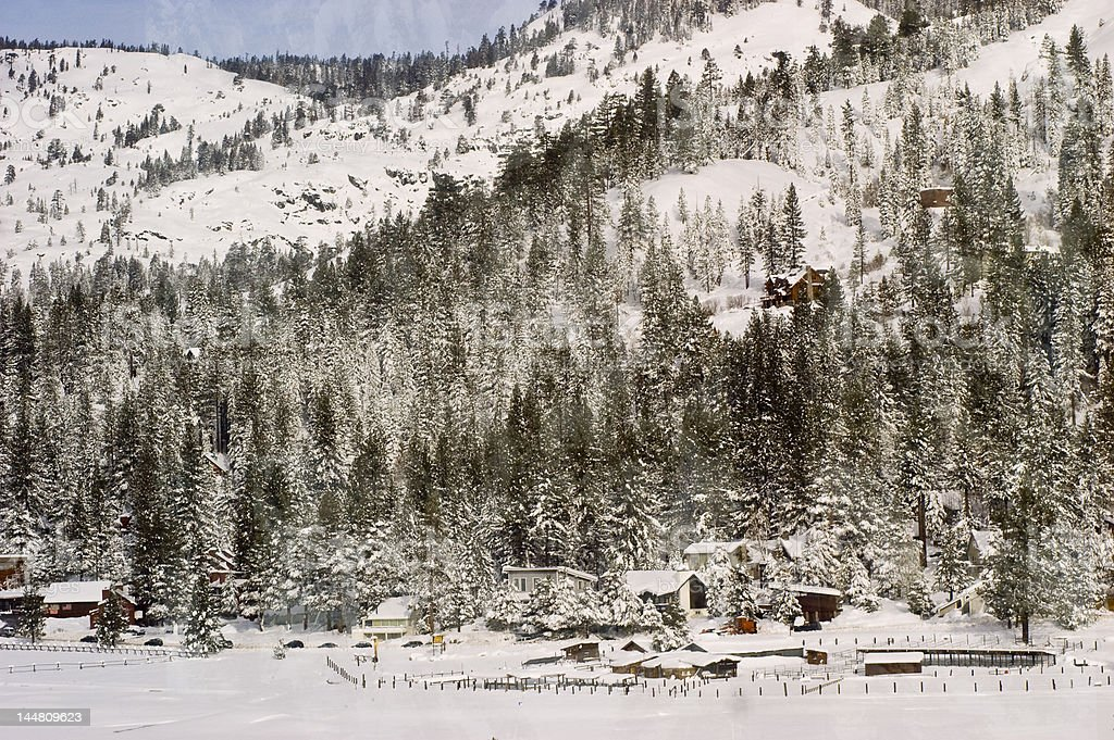 California winter at squaw valley stock photo