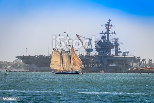 istock Californian and USS Carl Vinson (CVN-70) 869960322