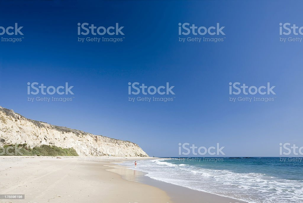 Californian Beach and Pacific Ocean stock photo