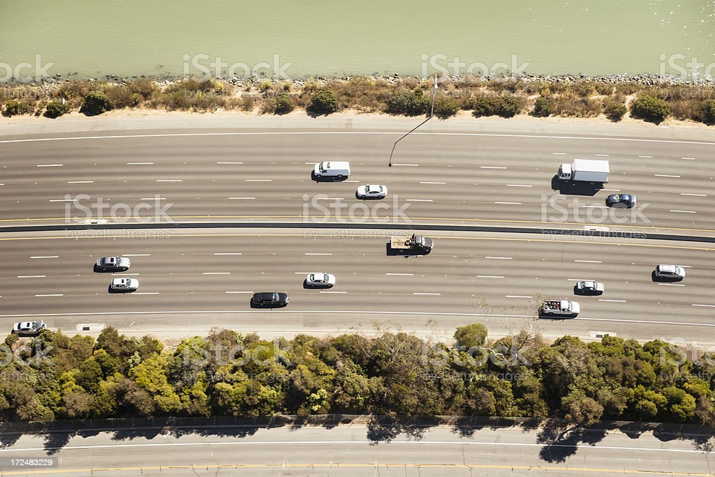 californian highway from the sky royalty-free stock photo