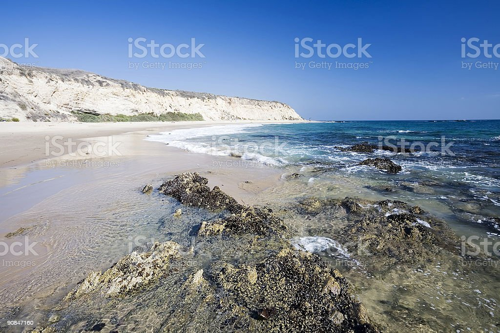 Californian Seaside with Cliffs stock photo