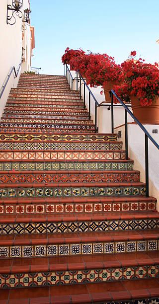 californian staircase stock photo