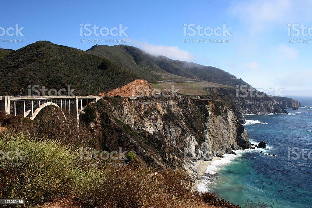California's Pacific Coast Highway royalty-free stock photo