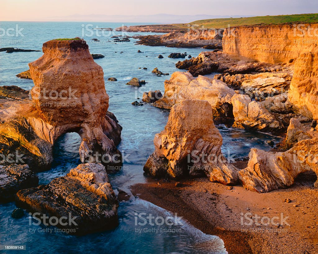 California's Rugged Montana De Oro (P) stock photo