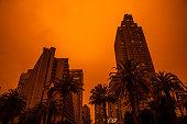 istock California's Wildfires Wrap the San Francisco Bay Area In A Dark Orange Haze 1282388202