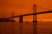 istock California's Wildfires Wrap the San Francisco Bay Area In A Dark Orange Haze 1282388644
