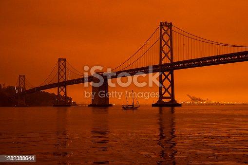California's Wildfires Wrap the San Francisco Bay Area In A Dark Orange Haze