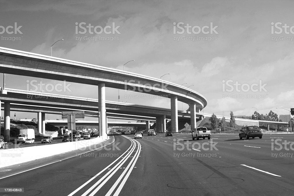 Califronia Freeway royalty-free stock photo