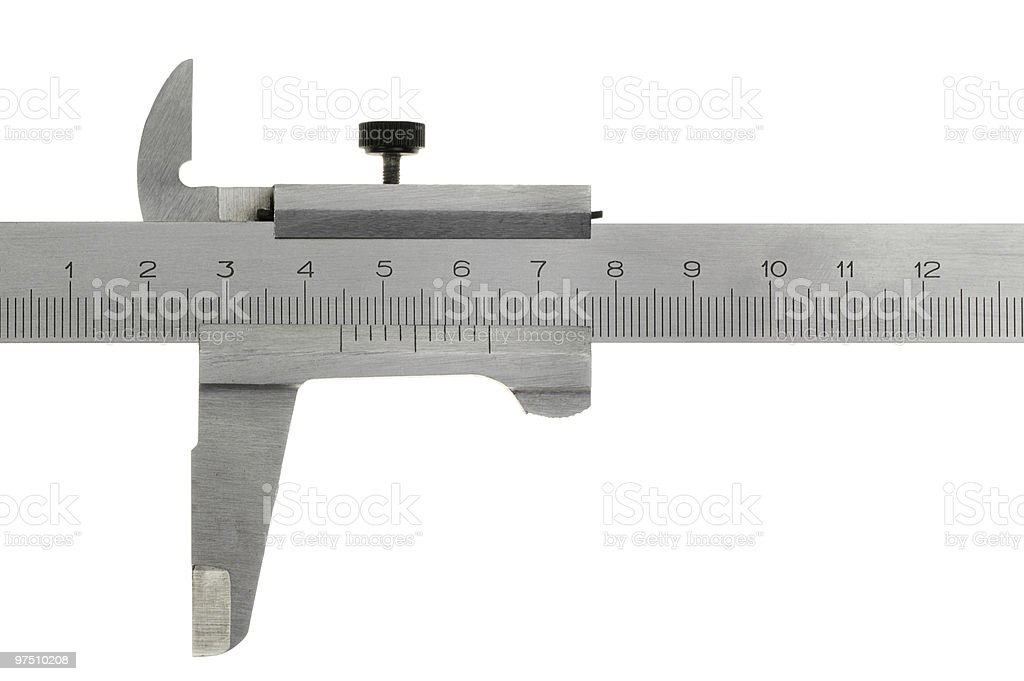 Caliper. Isolated on white royalty-free stock photo