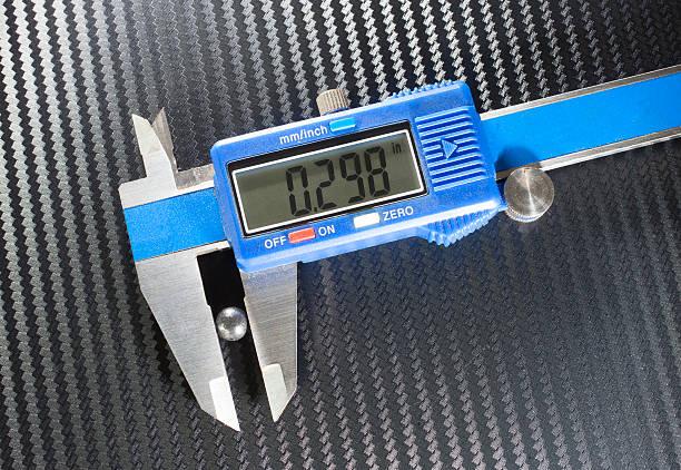 Caliper measurement stock photo