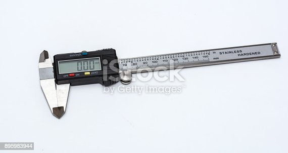istock Calipers on white background 895983944