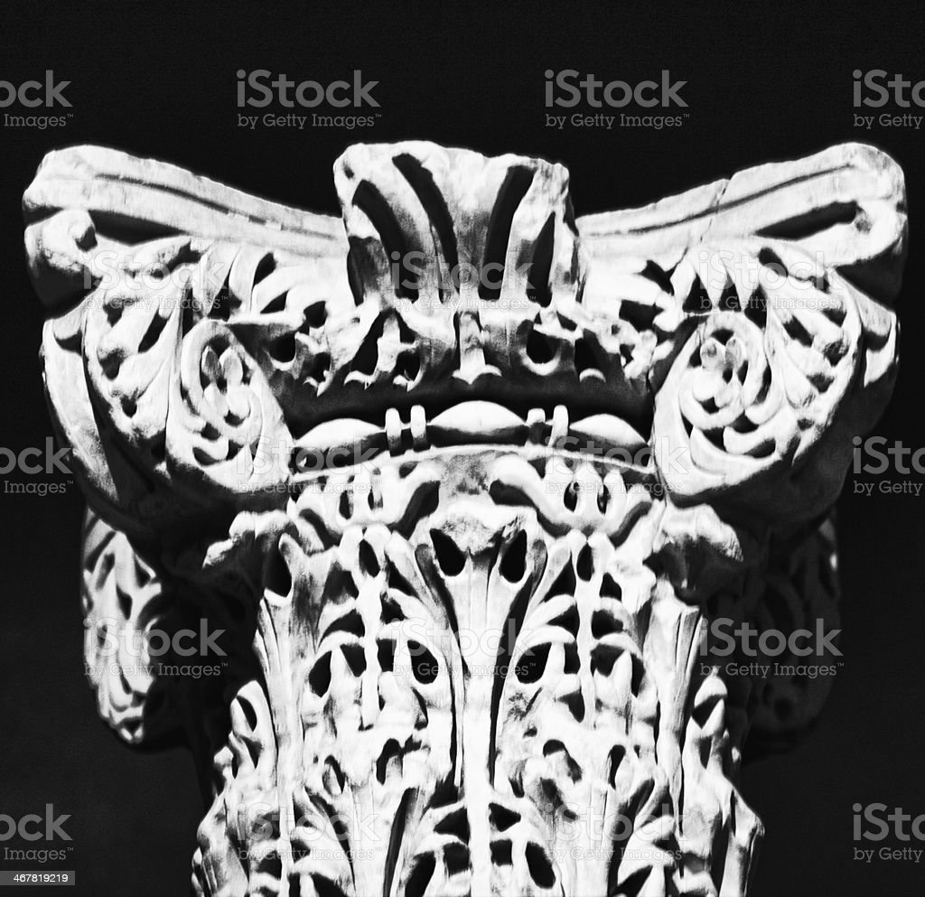 Caliphal marble capital stock photo