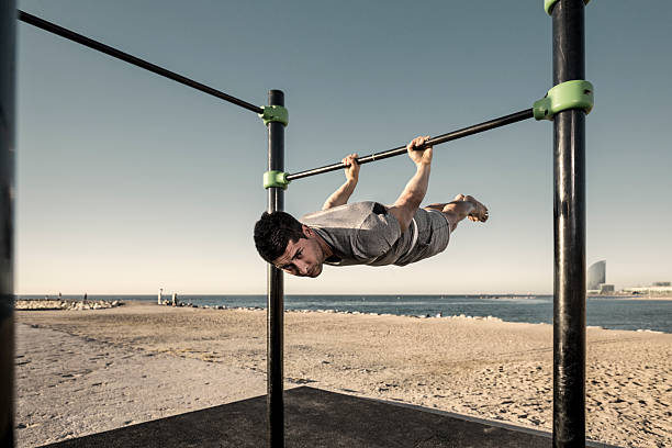 Calisthenics training stock photo