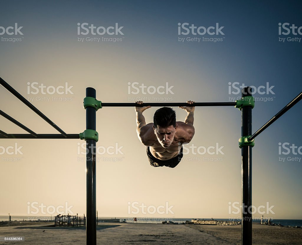 Calisthenics work out stock photo