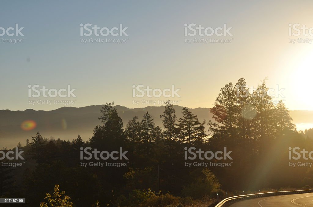 Calistoga, Ca Sunrise stock photo