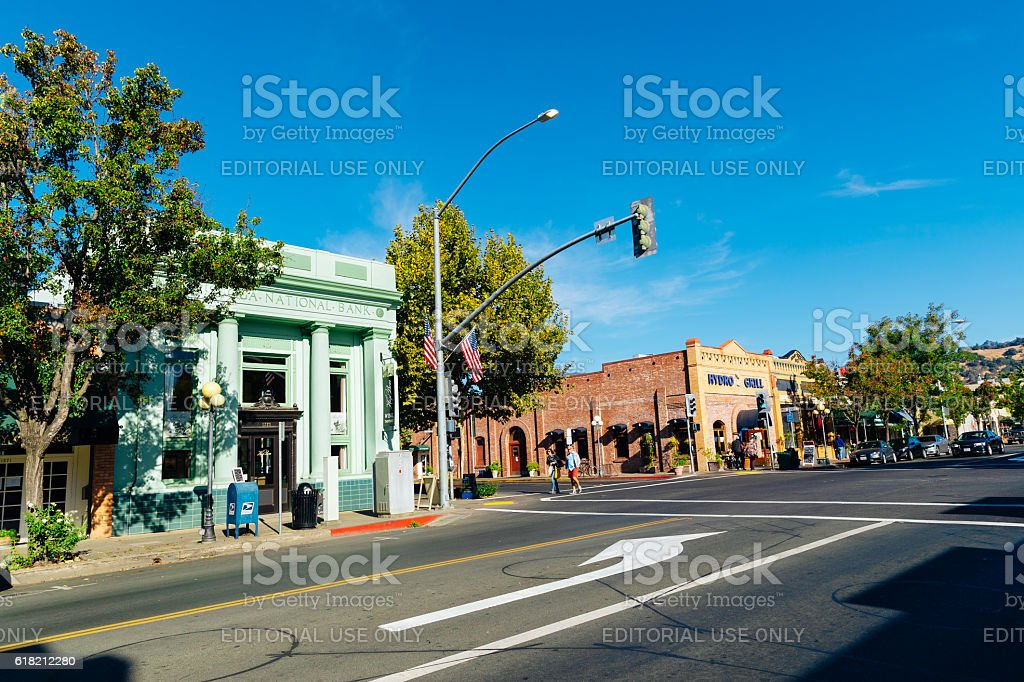 Calistoga, California, USA stock photo