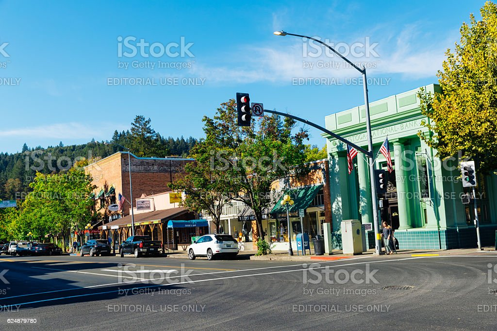 Calistoga, Napa Valley, California, USA stock photo