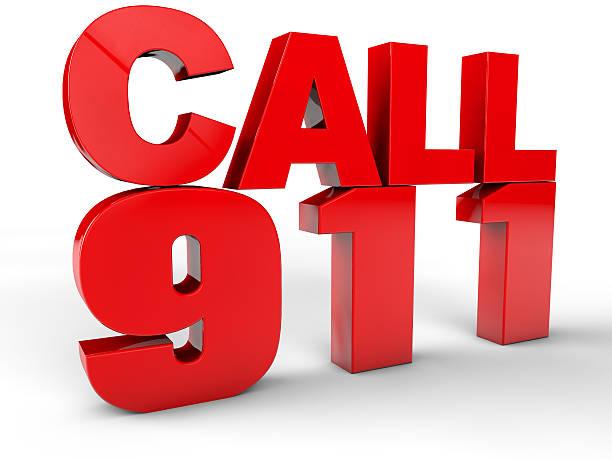 Unter 911 Notruf 3d-text – Foto