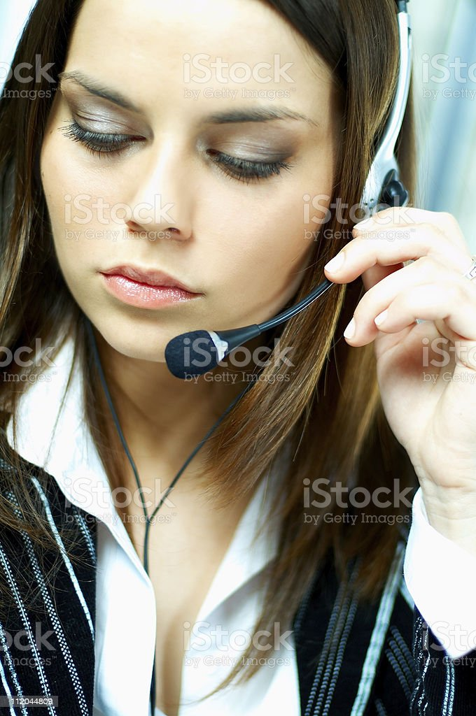 Call Center Agent royalty-free stock photo