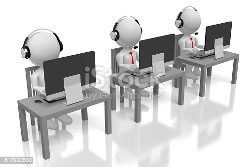 istock 3D call center concept 517660500