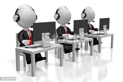 istock 3D call center concept 597944404