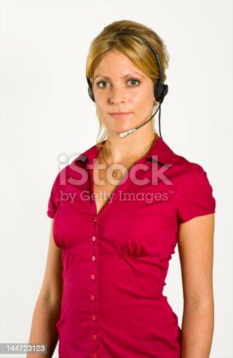 Happy call center girl
