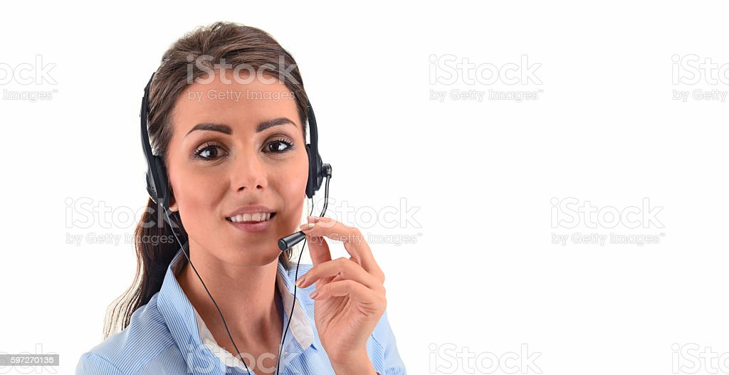 Call center operator. Customer support. Helpdesk. royalty-free stock photo