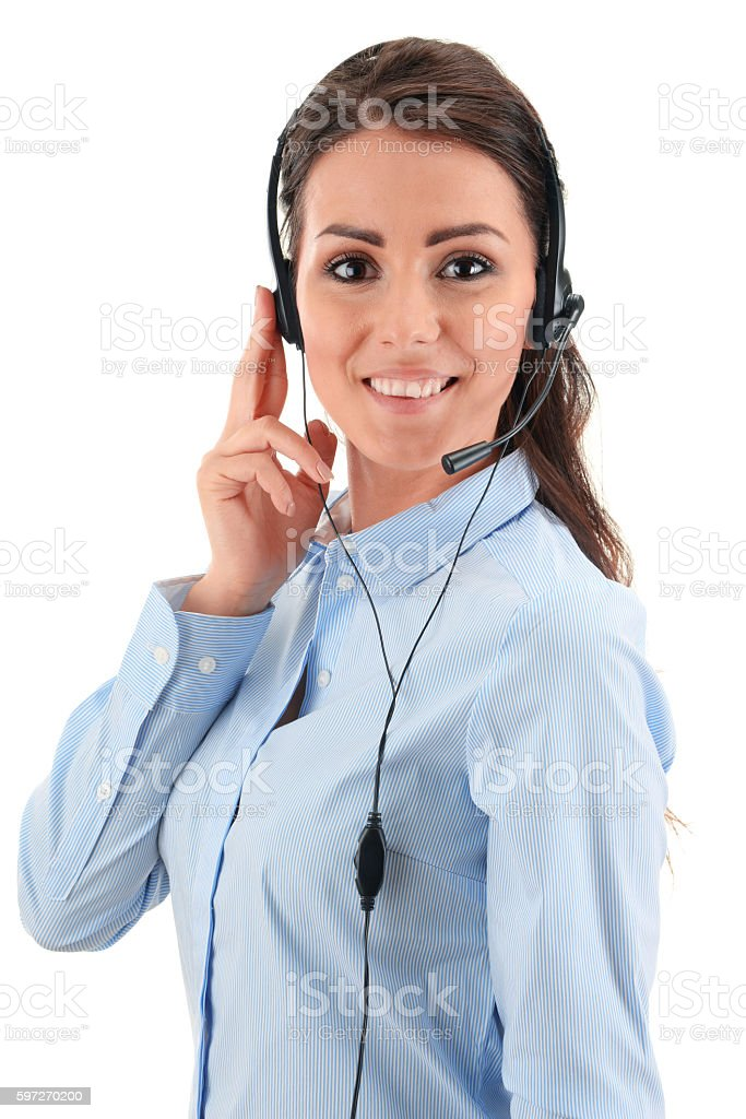 Call center operator. Customer support. Helpdesk. royalty-free stock photo