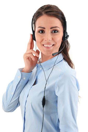 Call Center Operator Customer Support Helpdesk Stock Photo & More Pictures of Adult