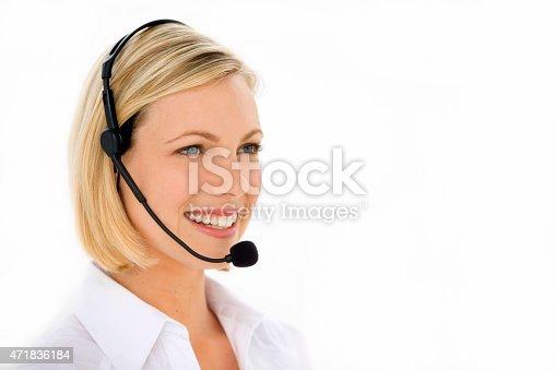 istock Call center operator 471836184