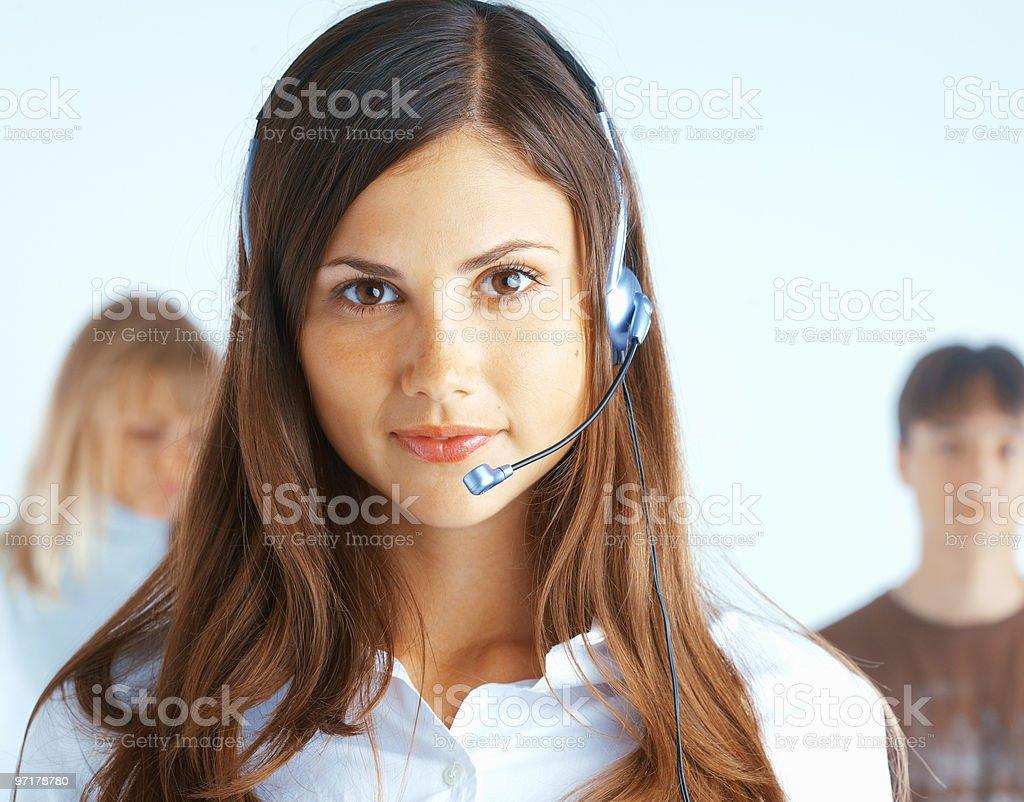 Call Center Operator royalty-free stock photo